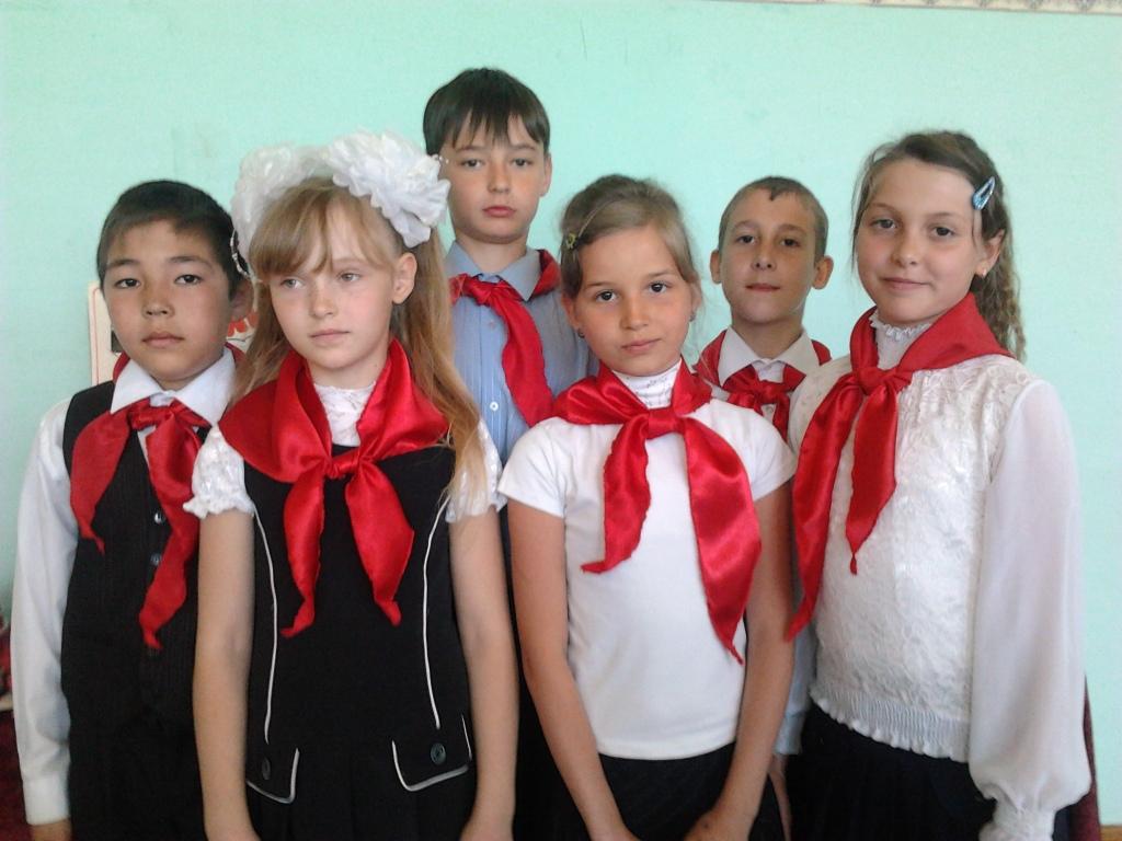 Праздник пионерии в селе Преображенка
