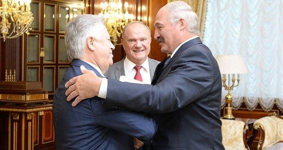 А.Г. Лукашенко встретился в Минске с Г.А. Зюгановым и П.Н. Симоненко