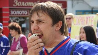 В Саратове болельщики ХК «Кристалл» провели демонстрацию