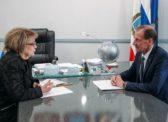 Ольга Алимова побывала с визитом в Татищевском районе