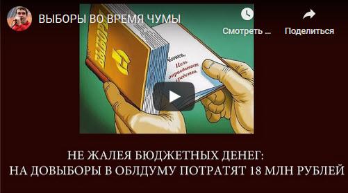 Александр Анидалов: ВЫБОРЫ ВО ВРЕМЯ ЧУМЫ