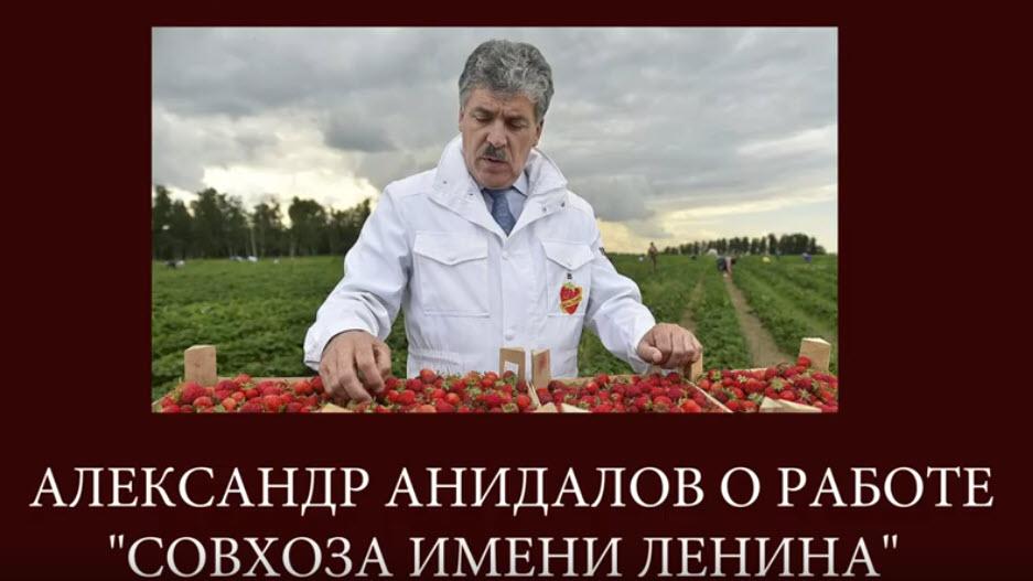 Александр Анидалов: РУКИ ПРОЧЬ ОТ СОВХОЗА ЛЕНИНА!
