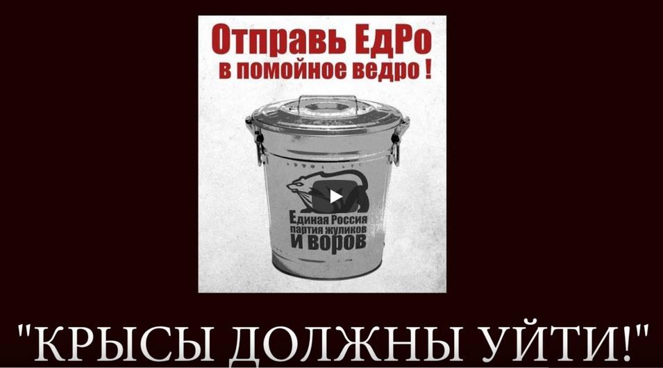 Александр Анидалов: «13 сентября ЕдРо — В ПОМОЙНОЕ ВЕДРО!»