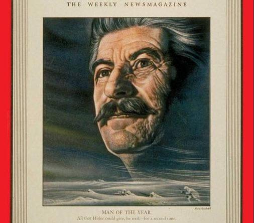 РУСО: по версии газеты «Таймс» И.В. Сталин неоднократно становился «человеком года»