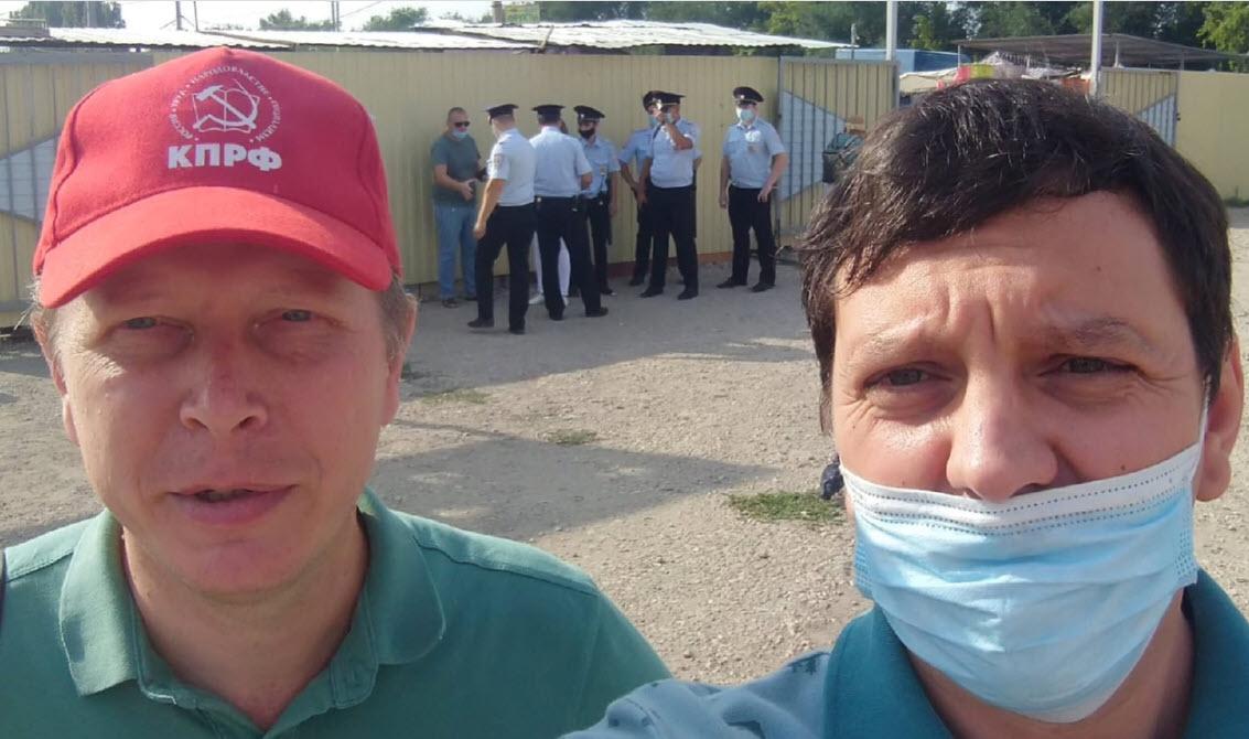 Пикет в поддержку кандидата в депутаты Государственной Думы от КПРФ Владимира Есипова