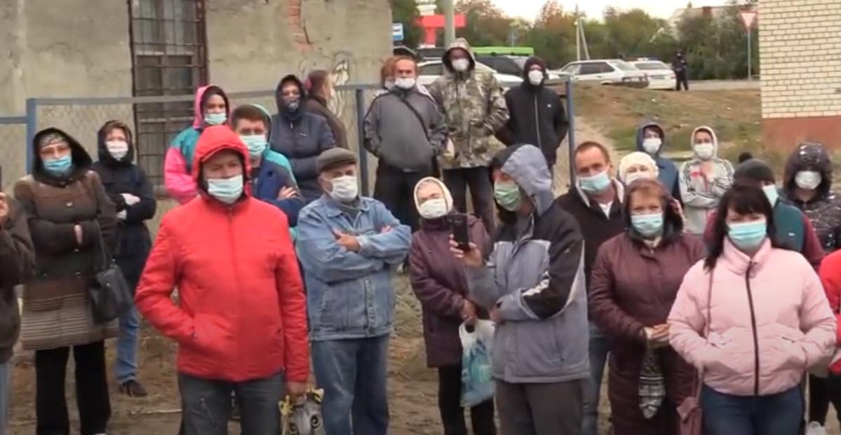 Жители Красного текстильщика против присоединения к Саратову