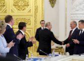 В.В. Путин на заседании Госсовета поздравил Г.А. Зюганова с юбилеем