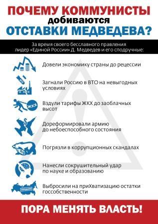 Десять причин для отставки правительства. Обращение депутатов Государственной Думы, выступивших с предложением о недоверии правительству Российской Федерации