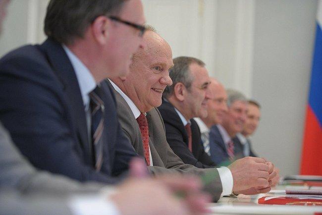 Лидер КПРФ Г.А. Зюганов и руководители парламентских партий встретились с Президентом России В.В. Путиным