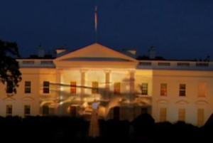 По фасаду Белого дома США прошла российская боевая техника