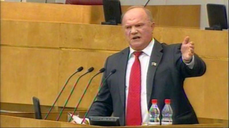 Г.А. Зюганов: Мы настаиваем на безотлагательном рассмотрении наших законопроектов в Госдуме
