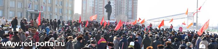 """в городе Балаково КПРФ провела Митинг протеста """"Требуем перемен"""" 7 марта 2011 года"""