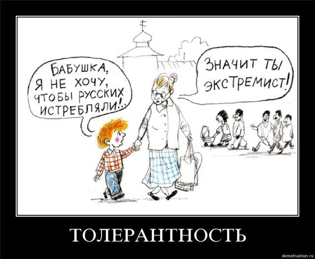 Все более популярна в обществе идея защиты русского большинства от национальных меньшинств