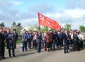 Екатериновка. Коммунисты возложили цветы к Вечному огню у памятника Неизвестному солдату