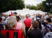 Хвалынск. Митинг КПРФ против повышения пенсионного возраста