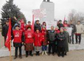 Маркс. Праздничный митинг к 100-летию Великой Октябрьской социалистической революции