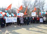 Энгельс. Митинг КПРФ в защиту Троллейбусного завода