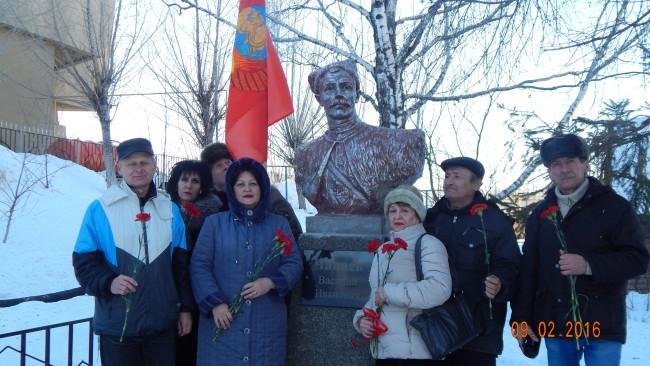 Балаковские коммунисты почтили память легендарного земляка В.И. Чапаева