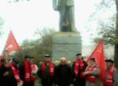 Базарный Карабулак. Праздничный митинг , посвященный 101-ой годовщине Великого Октября