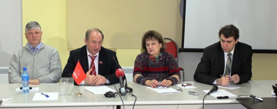Пресс-конференция в Саратовском обкоме КПРФ