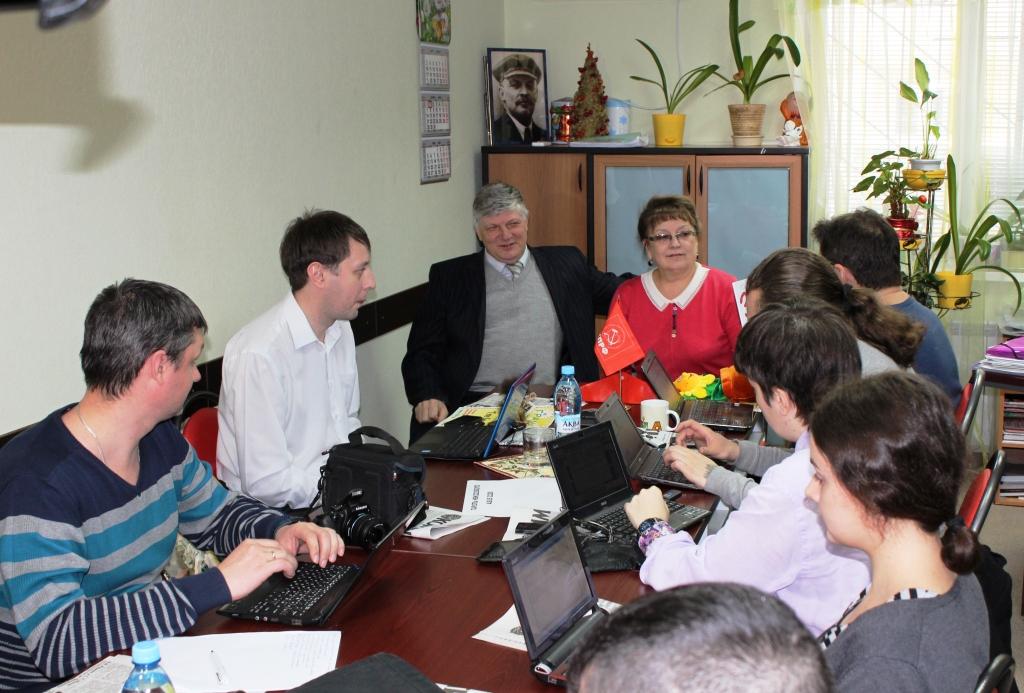 Пресс-конференция лидеров регионального отделения КПРФ