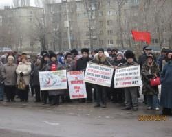 Митинг против роста цен на услуги ЖКХ в Энгельсе