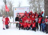 На берегу озера Сазанка прошли традиционные спортивные соревнования — «Красная лыжня»
