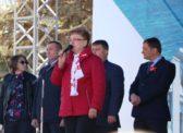Ольга Алимова выступила на митинге 1 мая (видео)