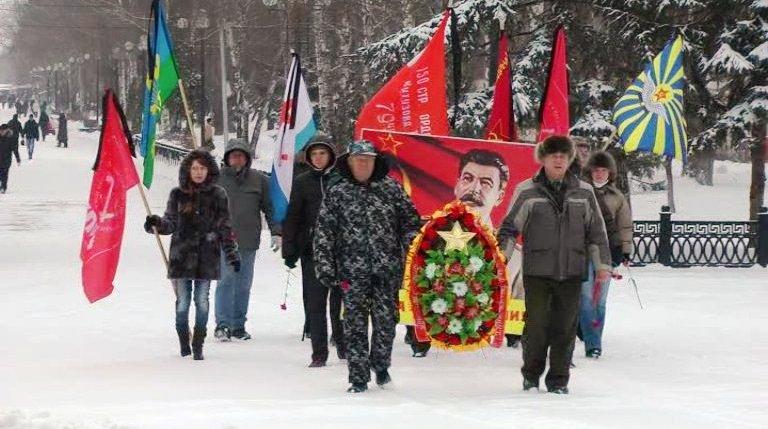 Чтим память И.В. Сталина