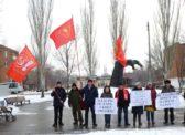 Пикет энгельсских коммунистов против застройки сквера