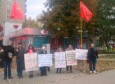 Пикет энгельсских коммунистов против строительства «завода смерти»