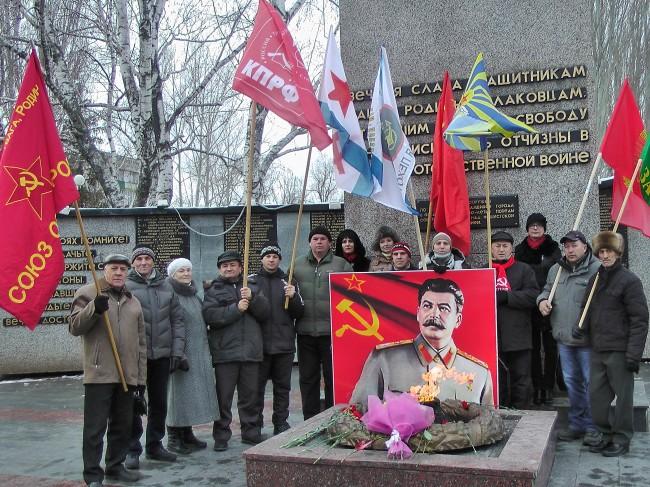 В Балаково отметили 134-ю годовщину со дня рождения И.В. Сталина