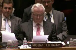 Постпред России в ООН В.Чуркин на ночном заседании Совбеза: Киевский режим, подстрекаемый западными «доброжелателями», упорно толкает страну к катастрофе