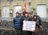 Турки. Партактив возложил цветы к памятнику В.И.Ленину