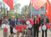 В посёлке Горный Краснопартизанского района прошёл праздничный митинг