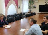 Владимир Есипов и Николай Бондаренко встретились с министром социального развития Саратовской области Ириной Бузиловой