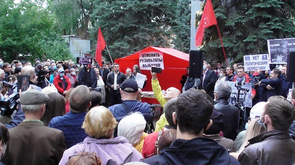 Акция коммунистов в центре Саратова